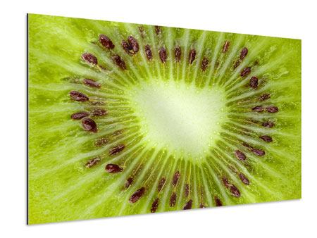 XXL Aluminiumbild Close Up Kiwi