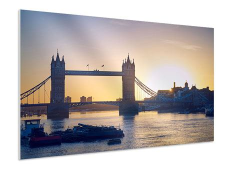 XXL Stoffbild Tower Bridge bei Sonnenuntergang