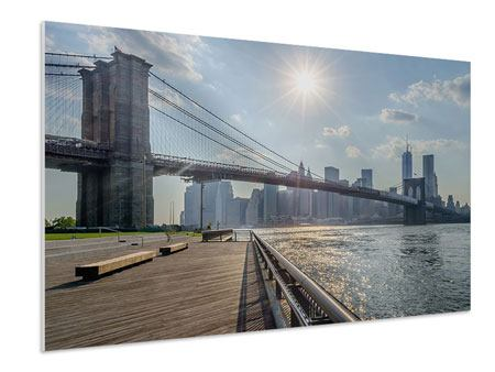 XXL Stoffbild Brooklyn Bridge